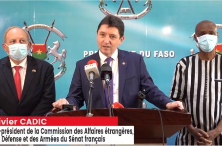 Lutte contre le terrorisme : le président du Faso échange avec le sénateur français Olivier Cadic sur la coopération avec Barkhane