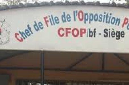 Burkina : 32 partis de l'opposition contre 82 de la majorité